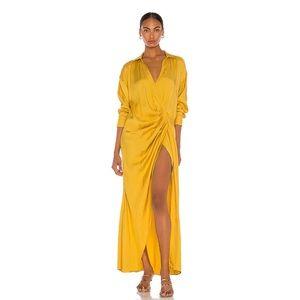 REVOLVE The Gigi Maxi Dress in Mustard Yellow XS